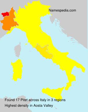 Familiennamen Pitet - Italy