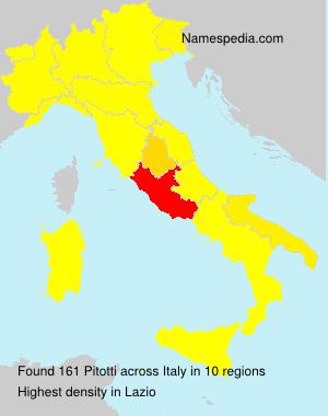 Familiennamen Pitotti - Italy