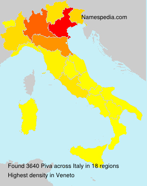 Surname Piva in Italy