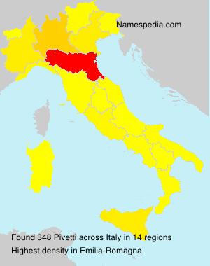 Surname Pivetti in Italy