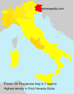 Surname Plos in Italy