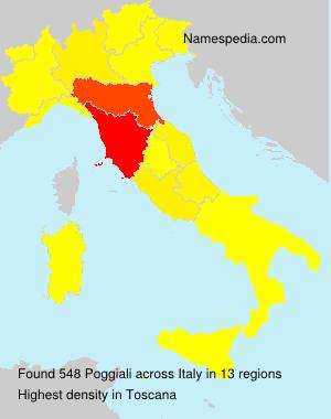 Surname Poggiali in Italy
