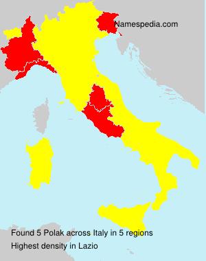 Surname Polak in Italy