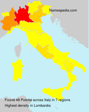 Surname Poletta in Italy