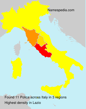 Surname Polica in Italy