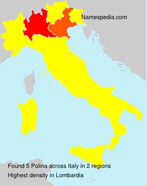 Surname Polina in Italy