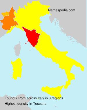 Surname Pom in Italy