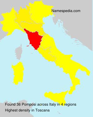Surname Pomposi in Italy
