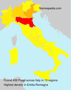 Surname Poppi in Italy