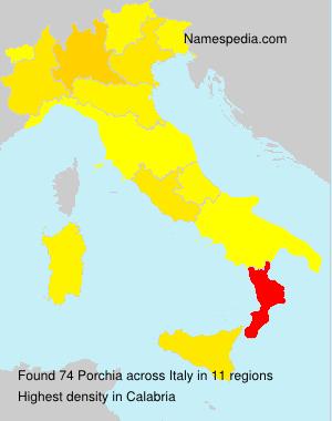 Surname Porchia in Italy