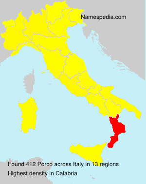 Surname Porco in Italy