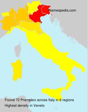 Surname Pramparo in Italy