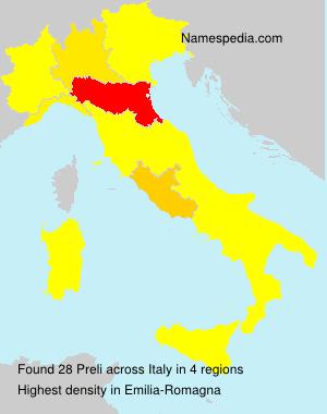 Surname Preli in Italy