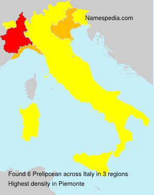 Surname Prelipcean in Italy