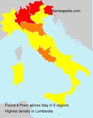 Surname Prem in Italy