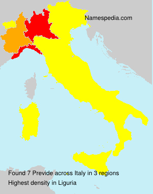 Familiennamen Previde - Italy
