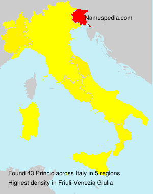 Surname Princic in Italy