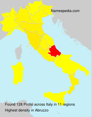 Surname Profio in Italy