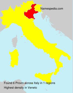 Familiennamen Provin - Italy