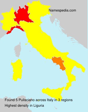 Surname Pulisciano in Italy