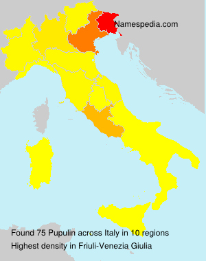 Surname Pupulin in Italy
