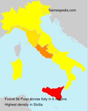 Familiennamen Purpi - Italy