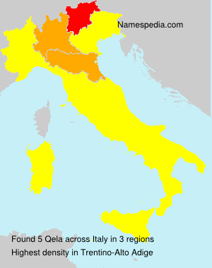 Surname Qela in Italy