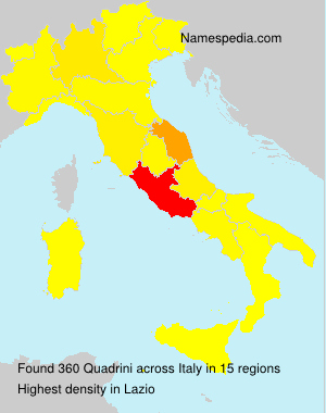 Surname Quadrini in Italy