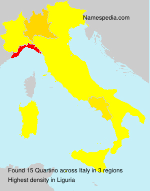 Surname Quartino in Italy