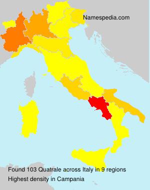 Familiennamen Quatrale - Italy