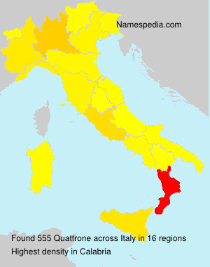 Familiennamen Quattrone - Italy