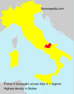 Surname Quicquaro in Italy