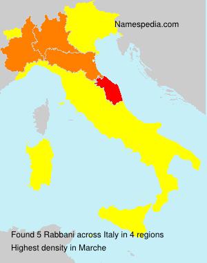 Surname Rabbani in Italy