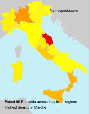 Surname Raccosta in Italy