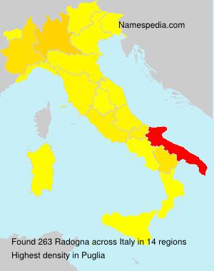 Surname Radogna in Italy