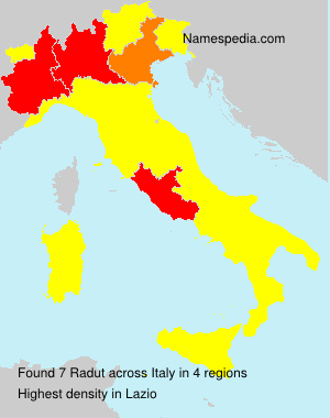 Surname Radut in Italy