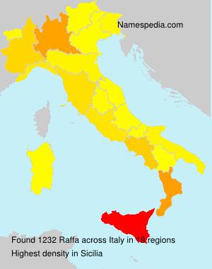 Surname Raffa in Italy