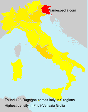 Surname Ragogna in Italy