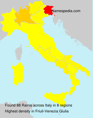 Surname Rainis in Italy
