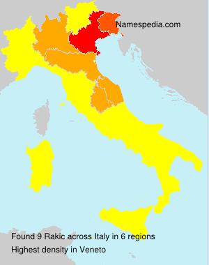 Surname Rakic in Italy