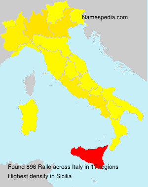Surname Rallo in Italy