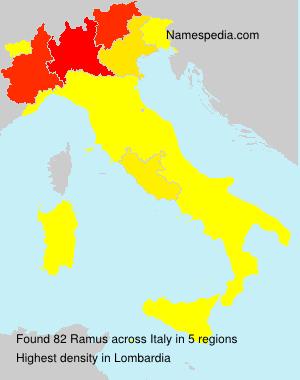 Familiennamen Ramus - Italy