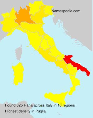 Surname Rana in Italy