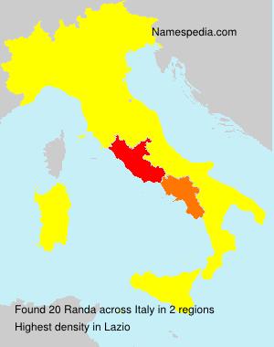 Surname Randa in Italy