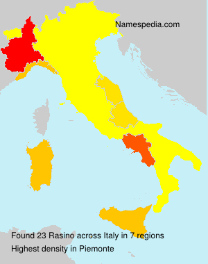 Surname Rasino in Italy