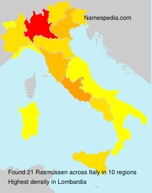 Surname Rasmussen in Italy