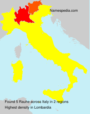 Surname Rauhe in Italy