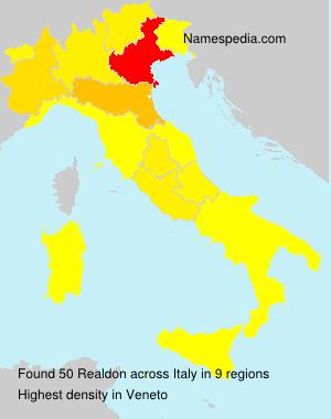 Surname Realdon in Italy