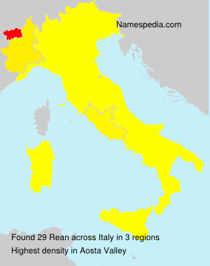 Surname Rean in Italy