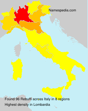 Familiennamen Rebuffi - Italy